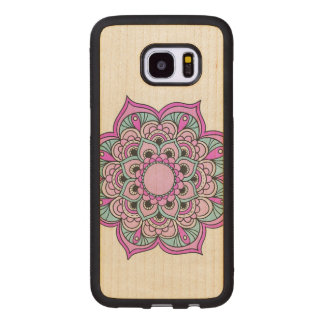 Colorful Mandala Wood Samsung Galaxy S7 Edge Case