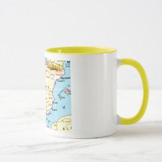 Colorful Map of Spain Design Mug