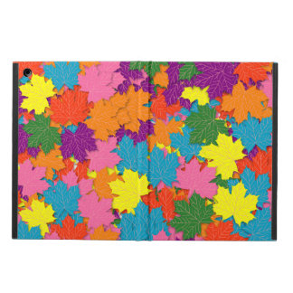 Colorful maple leaves pattern cover for iPad air