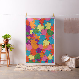 Colorful maple leaves pattern fabric