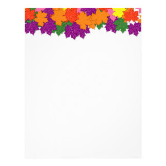 Colorful maple leaves pattern letterhead