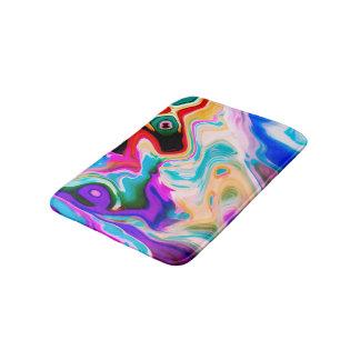 Colorful Marble Swirls Bath Mat