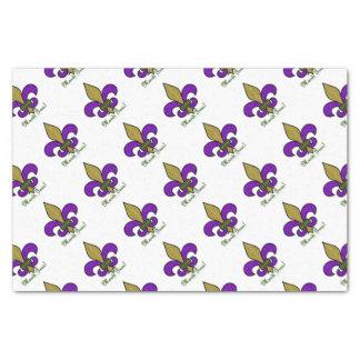 Colorful Mardi Gras Fleur De Lis Tissue Paper