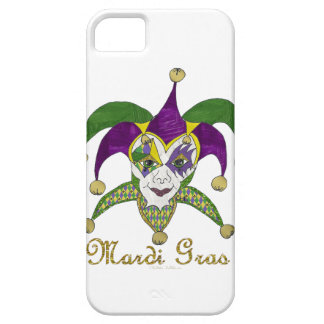 Colorful Mardi Gras Jesters Mask Case For The iPhone 5