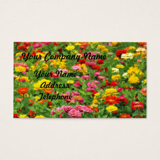 Colorful Marigold Flower Bed Business Card