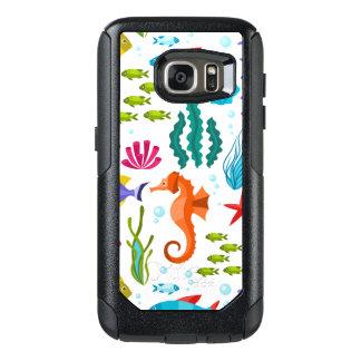 Colorful Marine Animals Cute Cartoon Illustration OtterBox Samsung Galaxy S7 Case