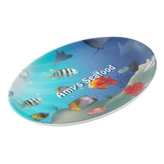 Colorful Marine Creatures Porcelain Serving Platter