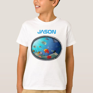 Colorful Marine Life Scene T-Shirt