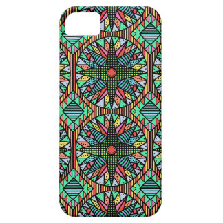 Colorful Mariner's Compass Quilt Pattern iPhone 5 Covers