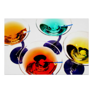 colorful martinis poster