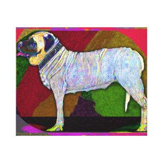 Colorful Mastiff Canvas Print