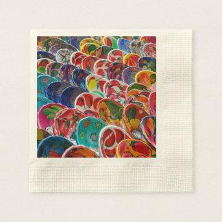 Colorful Mayan Bowls Disposable Napkins