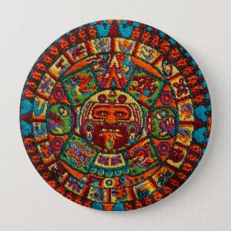 Colorful Mayan Calendar 4 Inch Round Button