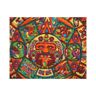 Colorful Mayan Calendar Canvas Print