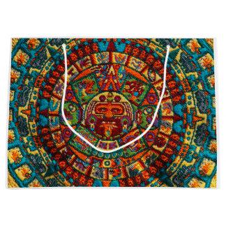 Colorful Mayan Calendar Large Gift Bag