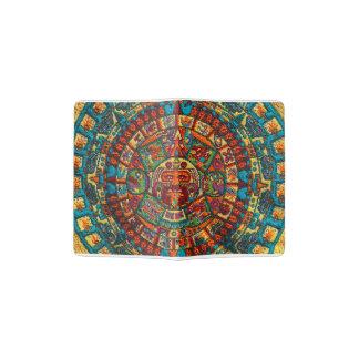 Colorful Mayan Calendar Passport Holder