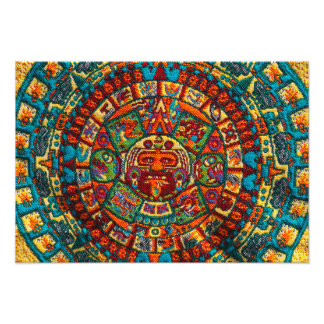 Colorful Mayan Calendar Photo