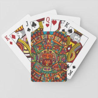 Colorful Mayan Calendar Playing Cards