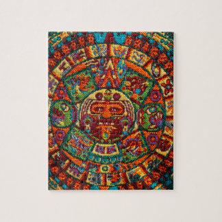 Colorful Mayan Calendar Puzzles