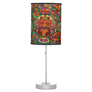 Colorful Mayan Calendar Table Lamp
