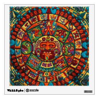 Colorful Mayan Calendar Wall Sticker