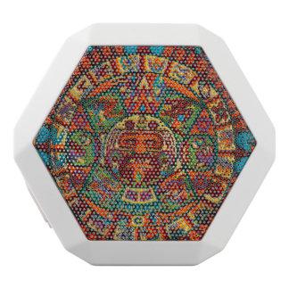 Colorful Mayan Calendar White Bluetooth Speaker