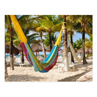 Colorful Mayan Hammock Cozumel Mexico Postcard