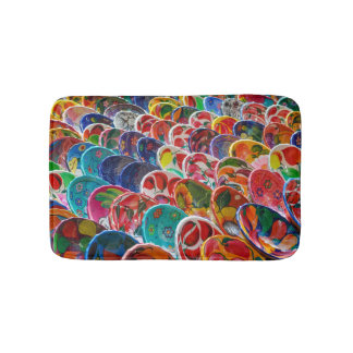 Colorful Mayan Mexican Bowls Bathroom Mat