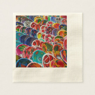 Colorful Mayan Mexican Bowls Disposable Napkins