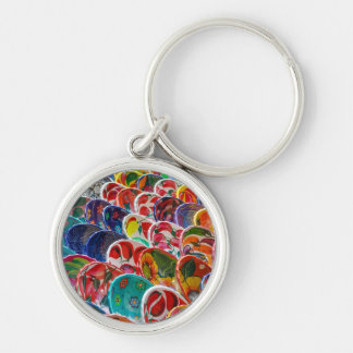 Colorful Mayan Mexican Bowls Keychain