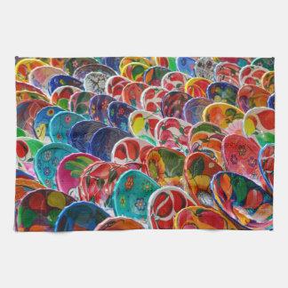 Colorful Mayan Mexican Bowls Kitchen Towel