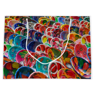 Colorful Mayan Mexican Bowls Large Gift Bag