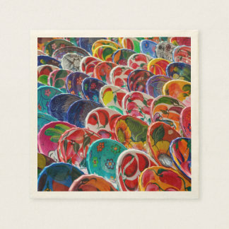 Colorful Mayan Mexican Bowls Paper Napkins