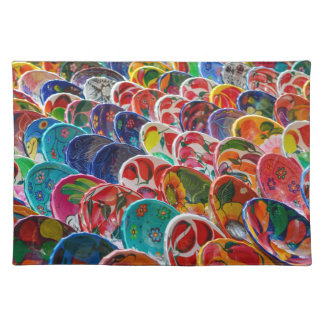 Colorful Mayan Mexican Bowls Placemat
