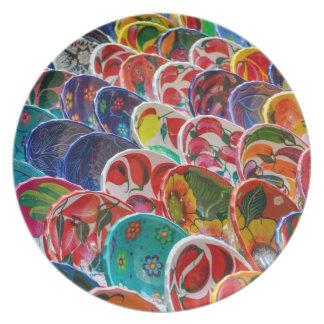 Colorful Mayan Mexican Bowls Plates