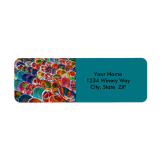 Colorful Mayan Mexican Bowls Return Address Label