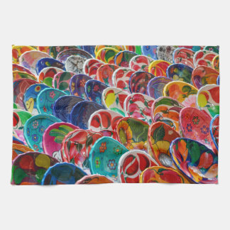 Colorful Mayan Mexican Bowls Towels