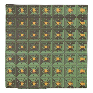 Colorful Maze Horizontal and Diagonal Custom Color Duvet Cover