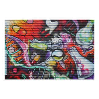 Colorful Medical Theme Graffiti Poster