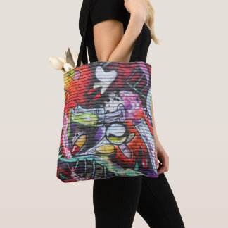 Colorful Medical Theme Graffiti Tote Bag