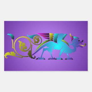 Colorful Medieval Dragon Sticker