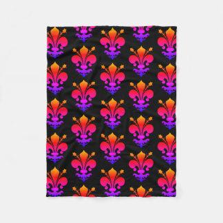 Colorful medieval pattern fleece blanket