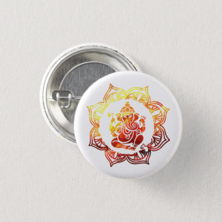 Colorful meditation 1 inch round button