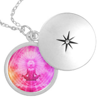 Colorful Meditation Spiritual Yoga Locket Necklace