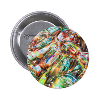Colorful Melted Glass 2 Inch Round Button