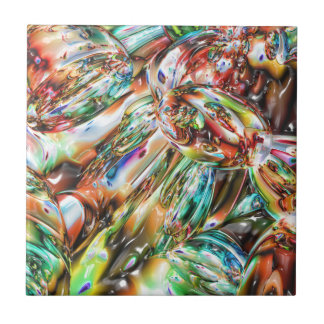 Colorful Melted Glass Tile