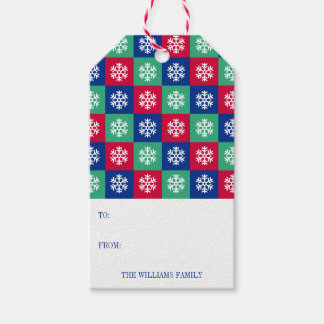 Colorful Merry And Bright Christmas Gift Tag
