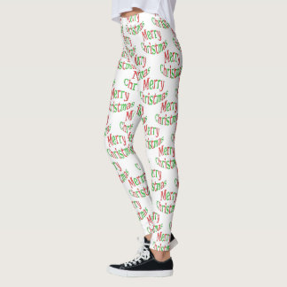 Colorful Merry Christmas Leggings Tights