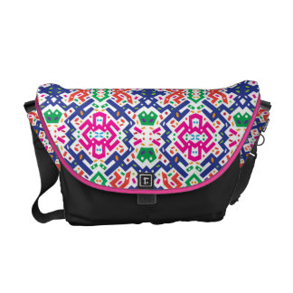 Colorful Messenger with Pattern 10 Commuter Bag