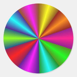 Colorful Metallic Color Wheel Sticker